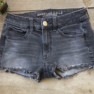 American Eagle Outfitters Hi Rise Shortie Gray